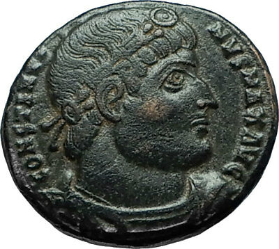 CONSTANTINE I the GREAT 330AD Authentic Ancient Roman Coin w SOLDIERS i66337