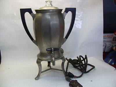 VINTAGE UNIVERSAL Electric Coffee Maker Percolator LANDERS FRARY CLARK #1772