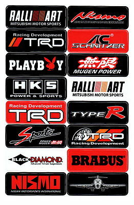 16x Aufkleber Dekor Sticker RC Modellbau Sponsoren Motorsport Tuning Rally Kross
