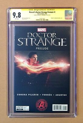 Doctor Strange Movie Prelude #1 • Cgc Ss 9.8 • Dr. • Signed Benedict Cumberbatch