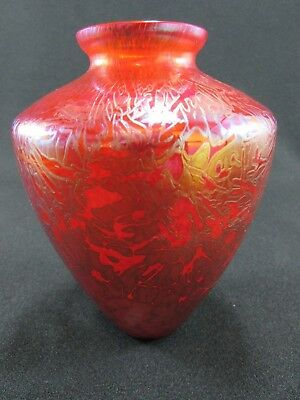 Royal Brierley Studio Red Glass Vase c.1980s