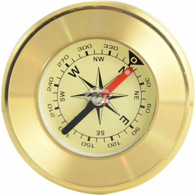 KQ_ Antique Replica Reproduction Compass Old Style Camping Brass Bronze Maritime