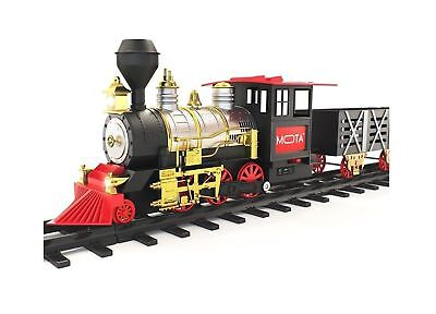 MOTA Classic Holiday Train Set with Real Smoke - Authentic Lights and Sounds ...