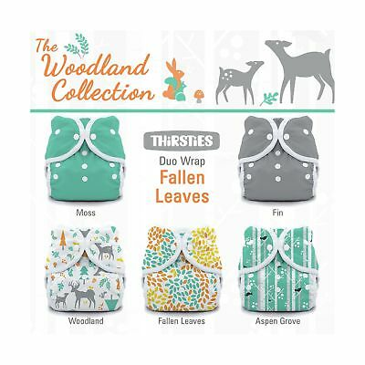 Thirsties Package-Snap Duo Wrap-Woodland Collection Fallen Leaves Size One (6...
