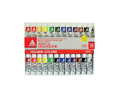 Holbein Acryla Gouache Study Set Of 12 12Ml