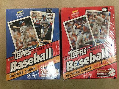 Topps Baseball Cards 1993 Series 1 & 2 Factory Sealed box w/ Topps Gold