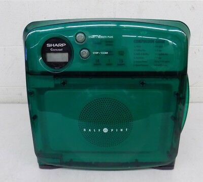Sharp R-120D Half Pint Space Saver Microwave Oven Boat/RV/Dorm Green GREAT LOOK