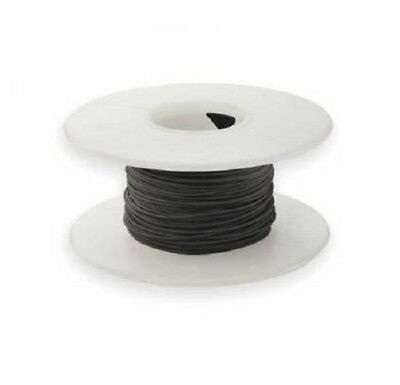 28 AWG Kynar Wire Wrap UL1422 Solid Wiremod type 100 foot spools BLACK NEW!