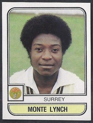 Panini-Cricket 83-#186- Surrey - Monte Lynch