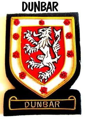 Dunbar Scottish Clan Name Badge New Hand Embroidered Cp Made - Good Deal