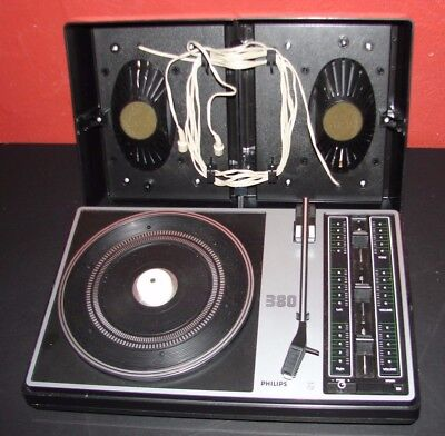 Vintage Philips 380 Portable Record Player Spares or Repair