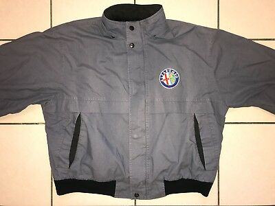 RARE VINTAGE 1980's ALFA ROMEO COAT SZ XL 1970's SERVICE DEPARTMENT JACKET BMW
