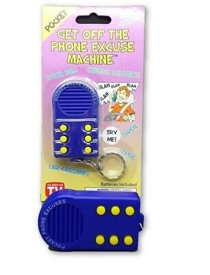 """GET OFF THE PHONE EXCUSE MACHINE & KEY RING"" Never Get Stuck On The Phone Again"