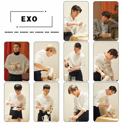 10pcs/set KPOP EXO Universe Winter Special Crystal Card Sticker Photo Cards New