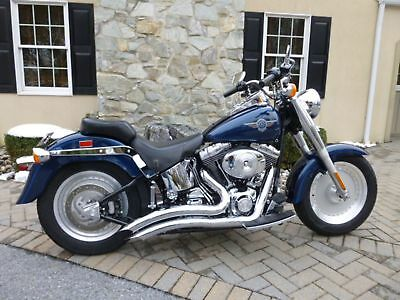 Harley Davidson FLSTF Softail FAT BOY  2000 Blue FAT BOY Softail FLSTF!