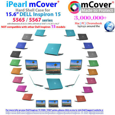 "NEW iPearl mCover Hard Case for 15.6"" Dell Inspiron 15 5565 5567 series laptop"