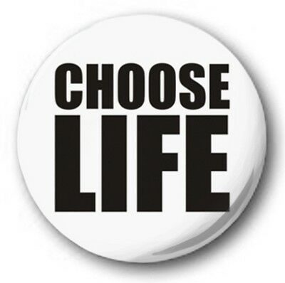 CHOOSE LIFE - 1 inch / 25mm Button Badge - Wham George Michael Jitterbug 80's