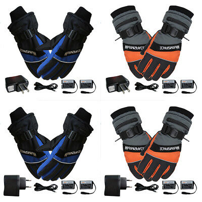 Outdoor Motorcycle Electric Heated Gloves Warmer Hands + 2 Recharge Battery Ka