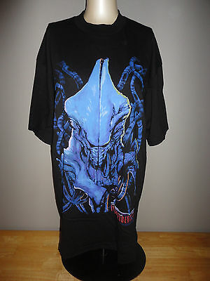 Vintage 1996 INDEPENDENCE DAY ID4 Movie ALIEN Black Shirt - Adult Size XL *NEW*