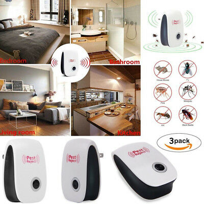 4x Ultrasonic Electronic Anti Mosquito Pest Bug Insect Cockroach Repeller Hot CJ