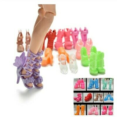m BARBIE LOTTO 12 PAIA DI SCARPE - 12 PAIR OF SHOES FOR BARBIE DOLL