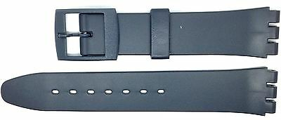 New 17mm (20mm) Resin Strap Compatible for Swatch Watch - Grey - RG13