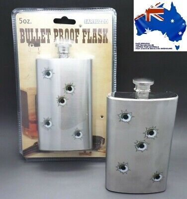 "Stainless Steele ""HIP FLASK - FUN BULLET HOLE APPEARANCE"" 147ml (5oz)"
