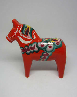 Swedish Hand painted carved Dala horse Nils Olsson Nusnäs Dalarna Sweden