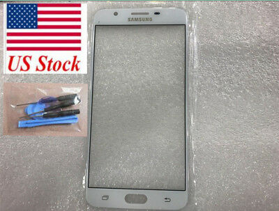 USA FOR SAMSUNG Galaxy J7 Prime New white Front Outer Lens Glass touch  Screen