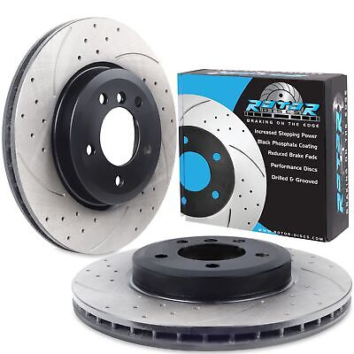 FRONT DRILLED GROOVED 325mm BRAKE DISCS FOR BMW E46 330ci 330cd COUPE CABRIOLET