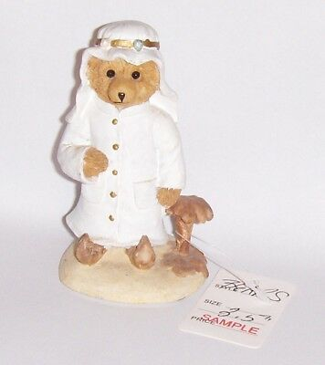 Vtg Bears From Around The World-Figurine Statue-Middle Eastern-Syrian-Arab Saudi