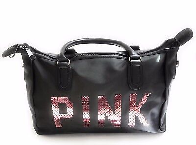 PINK Travel Tote Duffel Bag with Adjustable Strap