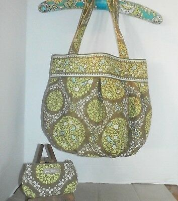 Vera Bradley Sittin in a Tree Birds Rare Zip  ID Coin and Matching Purse