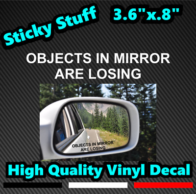 Objects In Mirror Are Losing 2 Pack Car Mirror Decal Vinyl Die Cut Sticker Funny