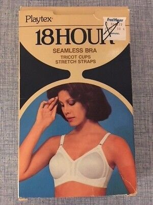 Vintage Playtex 18 Hour Bra 38 C Seamless White Style # 722 New In Box
