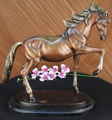 Huge Sale GORGEOUS REAL BRONZE HORSE STALLION SCULPTURE NUMBERED FIGURINE DB