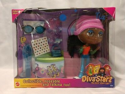 NEW NRFB 2000 Diva Starz TIA Doll: Poseable & Talking! Mattel