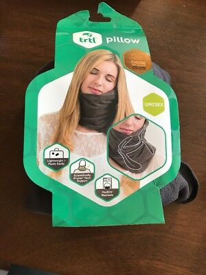 GENUINE TRTL Pillow SUPER Soft Neck Support for Flight and TRAVEL Grey Washable