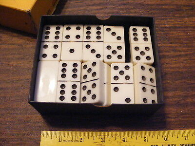 Vintage Thick White Dominoes