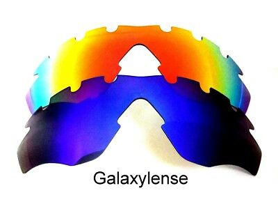 95b288a7a95 Galaxy Replacement Lenses For Oakley M2 Frame Vented Blue Red Sunglasses