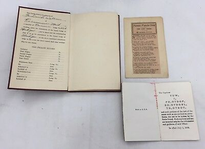 1938 I.O.O.F. INDEPENDENT ORDER ODD FELLOWS CHARGE BOOK #264 Roscommon MI 2033