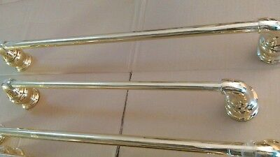 "Vintage Modern Traditional Highly Polished Brass 18"" & 24"" Moen Towel Bar Racks"