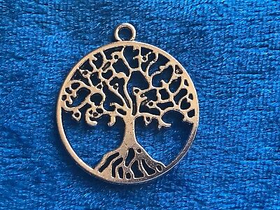 Free Ship 8 pieces tibetan silver round tree charms pendant 80x62mm L-4683