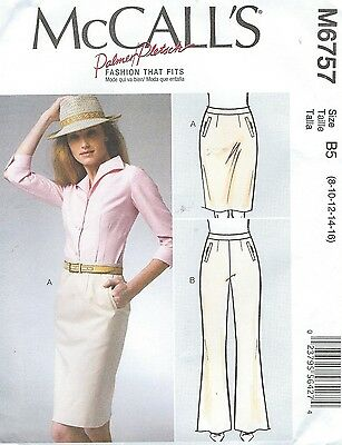 McCall's 6757 Misses' Skirt and Pants    Sewing Pattern