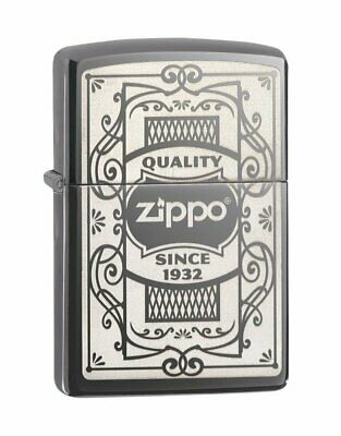 Zippo Quality Since 1932 Lighter, Black Ice Finish, Windproof #29425