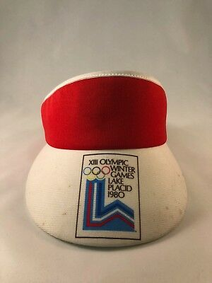 Olympics Xiii Winter Games Vintage 1980 Lake Placid Visor Hat - Deadstock