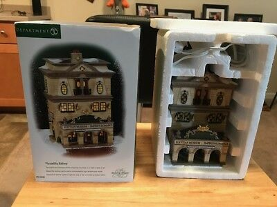 Dept 56 Dickens' Village PICCADILLY GALLERY w/box #58498