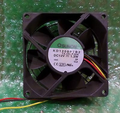 Sunon KD1208PTB2 12V 1.3W DC 3-Wire Fan 80x80x25mm