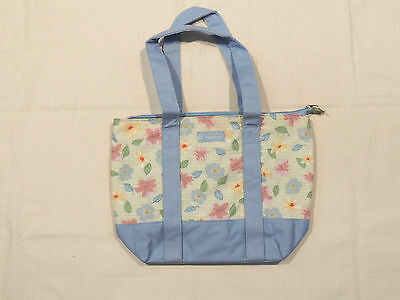 Longaberger 2009 FLORAL BLOOMS Fabric Tote Bag