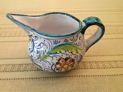 Vintage Small Ceramic Creamer Pitcher Made In Italy